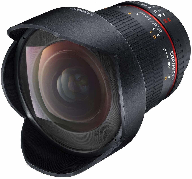 Samyang Obiektyw 14/2,8 DSLR Nikon F AE ręczny ostrość automatyczny pierścień przysłony obiektyw fotograficzny, obiektyw szerokokątny czarny
