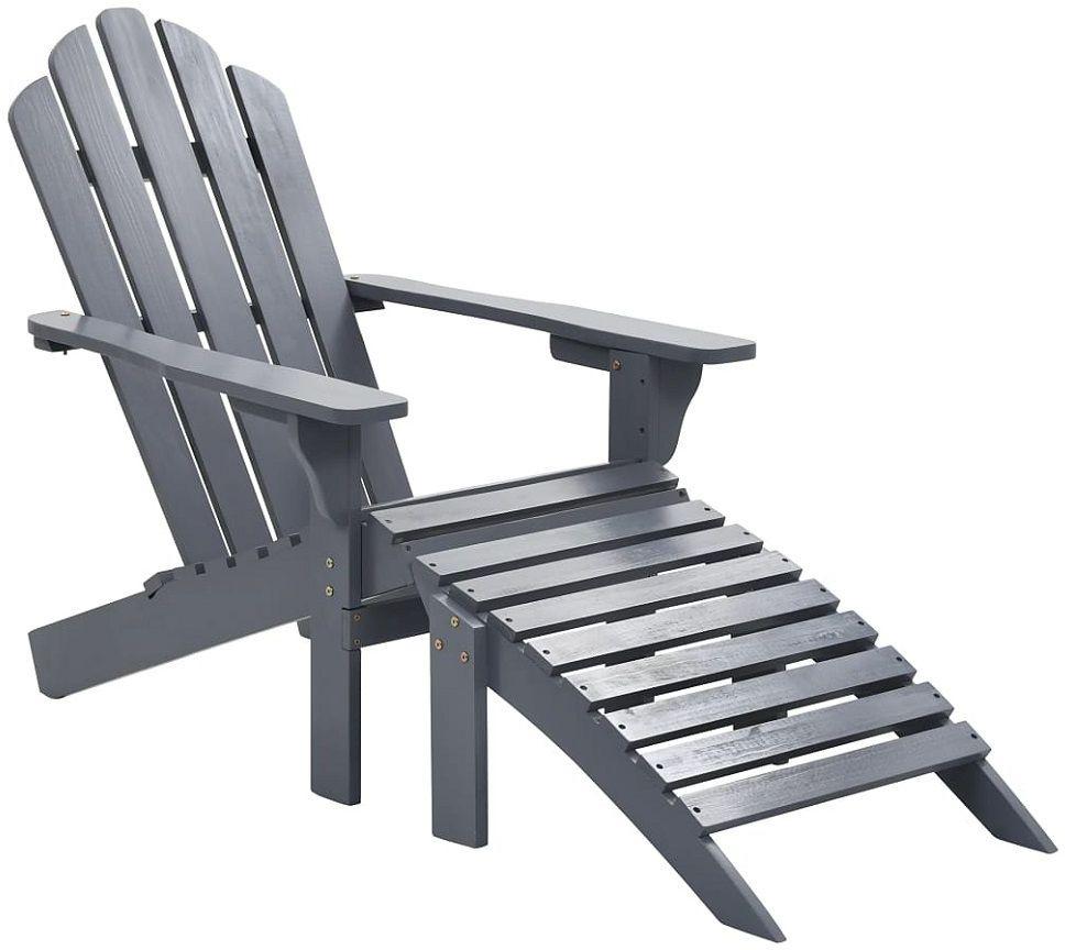 Drewniane krzesło ogrodowe Falcon - szare