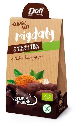 Migdały w czekoladzie gorzkiej bezglutenowe BIO 50 g Doti