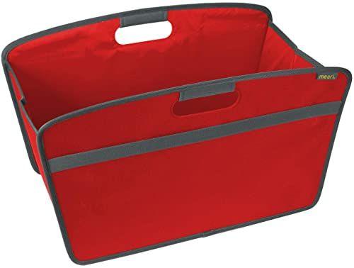 Składana Home box Hibiskus czerwona 54 x 30 x 32 cm zmywalna stabilna poliester do urządzania salonu książek zabawki dzianinowe poduszka do przytulania ulubione miejsce sypialnia