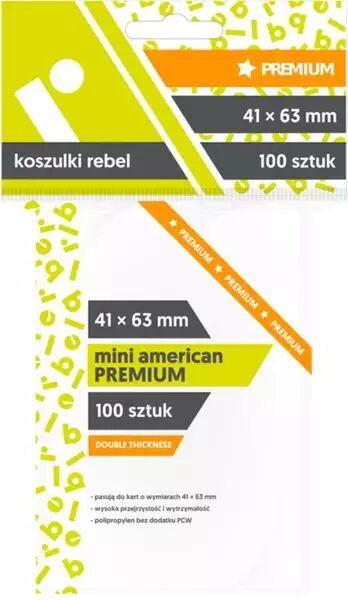 Koszulki Mini American Premium 41x63 (100szt)REBEL - Rebel