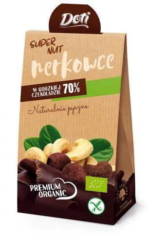 Orzechy nerkowca w czekoladzie gorzkiej bezglutenowe BIO 50 g Doti