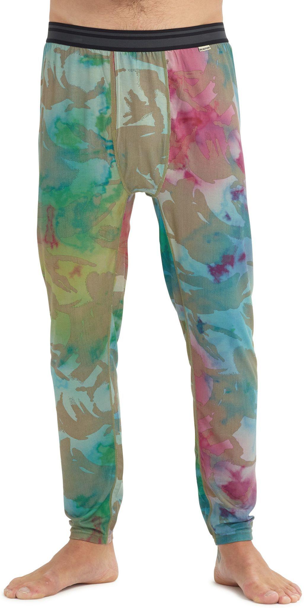 bielizna termoaktywna męska - spodnie BURTON MIDWEIGHT PANT Festival Camo