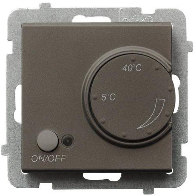 SONATA Regulator temperatury /czujnik napowietrzny/ czekoladowy metalik RTP-1RN/m/40