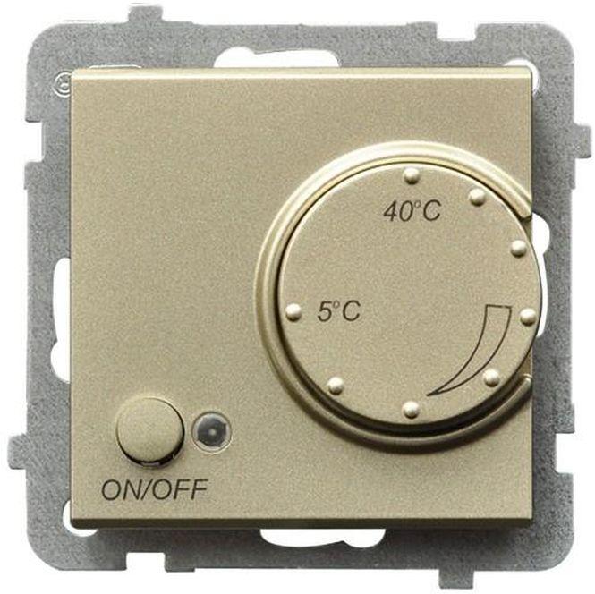 SONATA Regulator temperatury /czujnik napowietrzny/ szampański złoty RTP-1RN/m/39