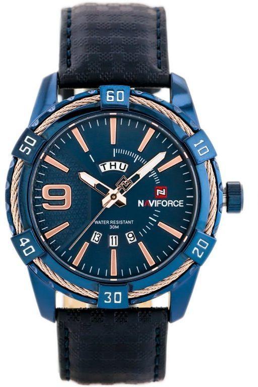 ZEGAREK MĘSKI NAVIFORCE - NF9117L (zn069e) - blue + box