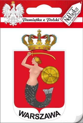 Naklejka pojedyncza - herb - Warszawa
