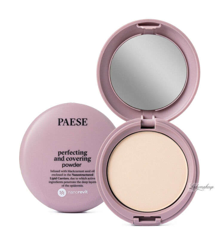 PAESE - Nanorevit - Perfecting and Covering Powder - Matujący puder do twarzy - 02 PORCELAIN