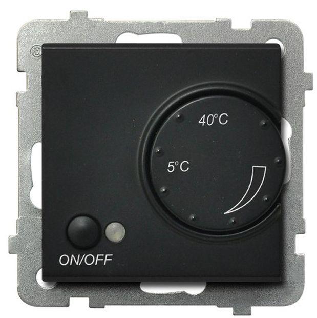 SONATA Regulator temperatury /czujnik napowietrzny/ czarny metalik RTP-1RN/m/33