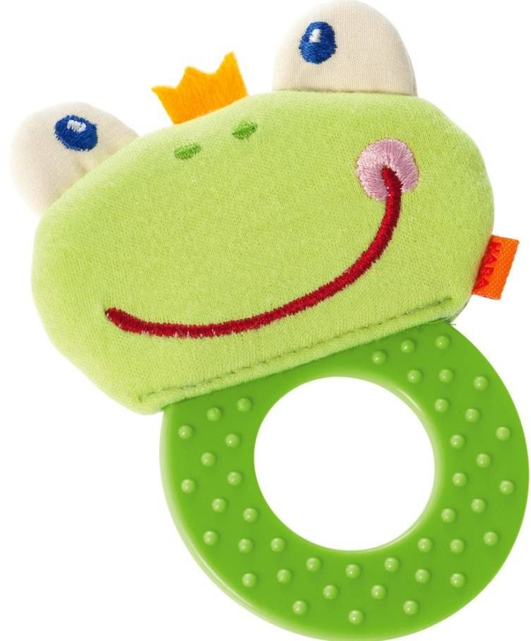 Uniwersalny gryzak dla dzieci Żaba CCF szeleszcząca HB303006-Haba, zabawki dla niemowląt