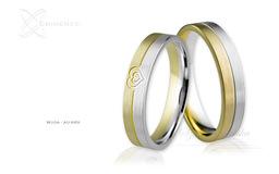 Obrączki ślubne - wzór Au-869
