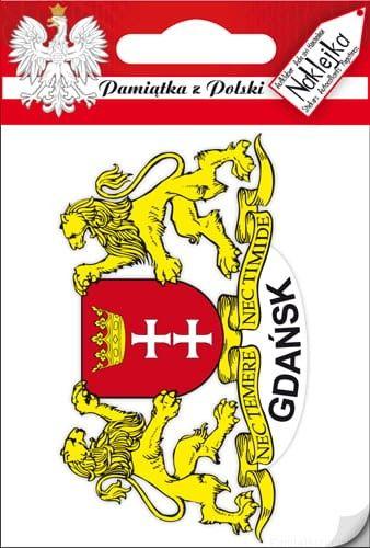 Naklejka pojedyncza - herb - Gdańsk