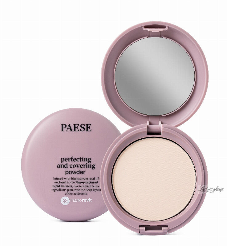 PAESE - Nanorevit - Perfecting and Covering Powder - Matujący puder do twarzy - 01 IVORY
