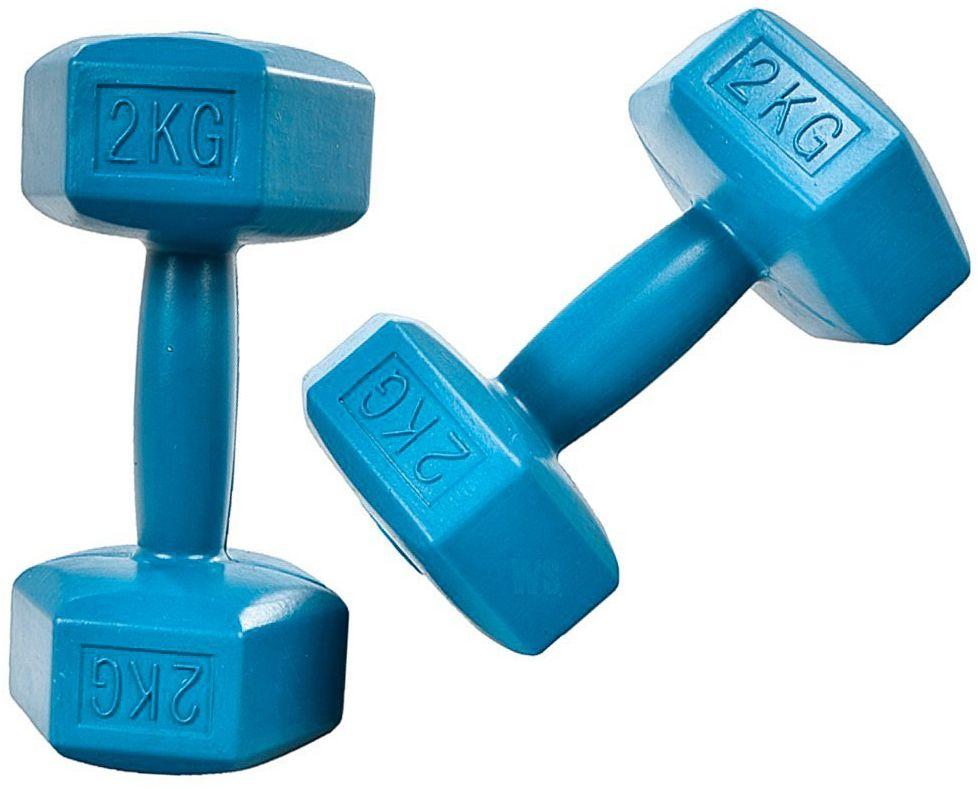 Hantelki hantle 4kg zestaw cieżarków 2x 2kg fitness