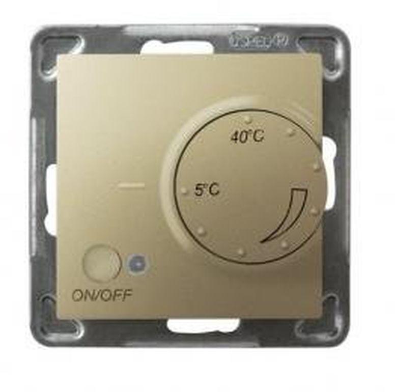 IMPRESJA Regulator temperatury /czujnik napowietrzny/ złoty metalik RTP-1YN/m/28