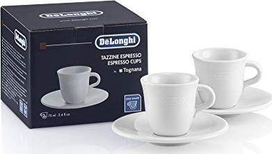 DeLonghi 5513283721 DLSC308 filiżanki ceramiczne do espresso Tognana 2 szt.