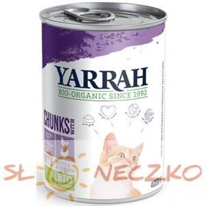 (DLA KOTA DOROSŁEGO) Kawałi kurczaka i indyka z pomidorem i pokrzywą BIO 405 g YARRAH