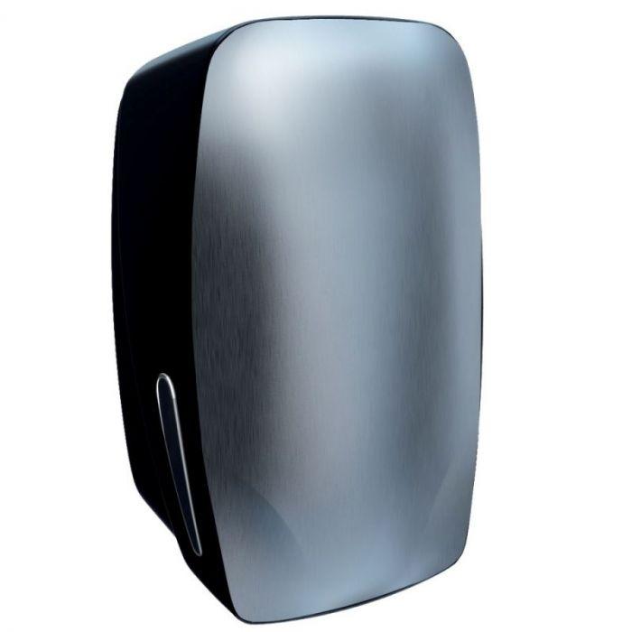 Pojemnik na papier toaletowy w listkach Merida Mercury, do 400 listków papieru, czarny