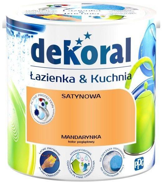 Farba satynowa Dekoral Łazienka i Kuchnia mandarynka 2,5 l