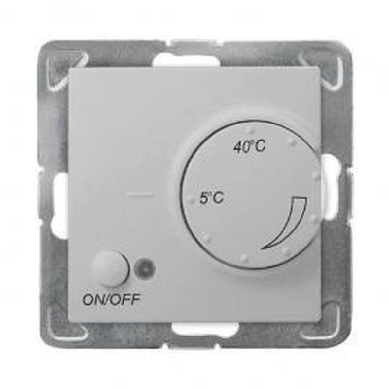 IMPRESJA Regulator temperatury /czujnik napowietrzny/ srebro RTP-1YN/m/18