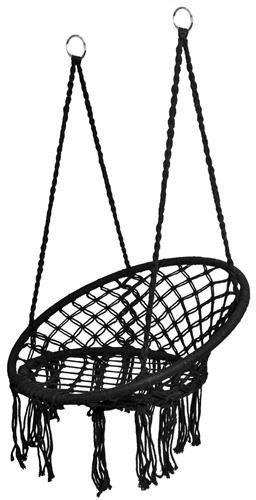 Huśtawka ogrodowa bocianie gniazdo z oparciem /czarna/