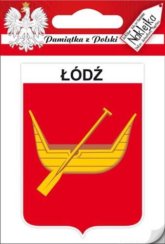 Naklejka pojedyncza - herb - Łódź