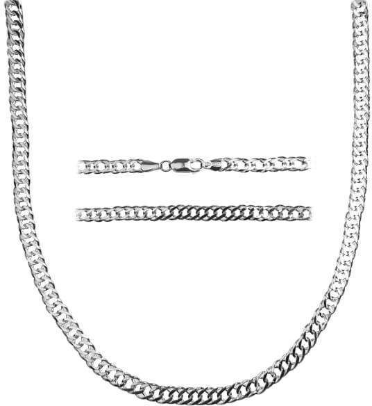 Łańcuch srebrny Rombo