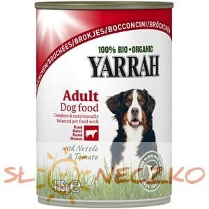 (DLA PSA DOROSŁEGO) Karma z wołowiną, pokrzywą i pomidorem BIO 405 g YARRAH