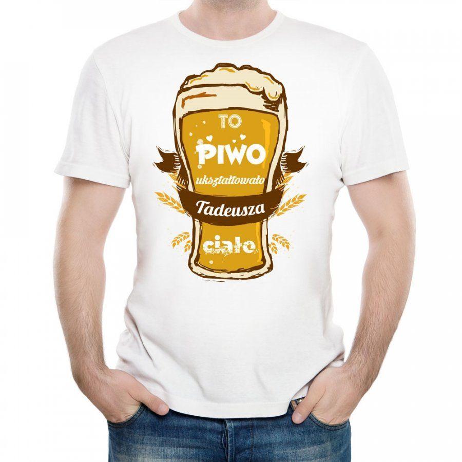 Koszulka Męska z Twoim Nadrukiem PIWO