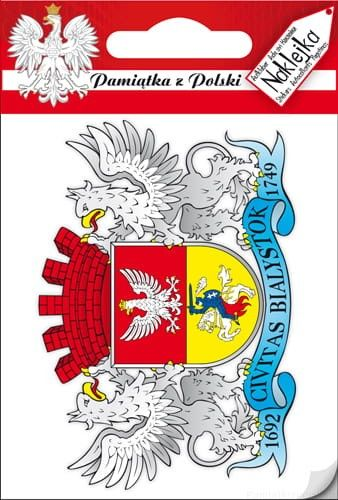 Naklejka pojedyncza - herb - Białystok