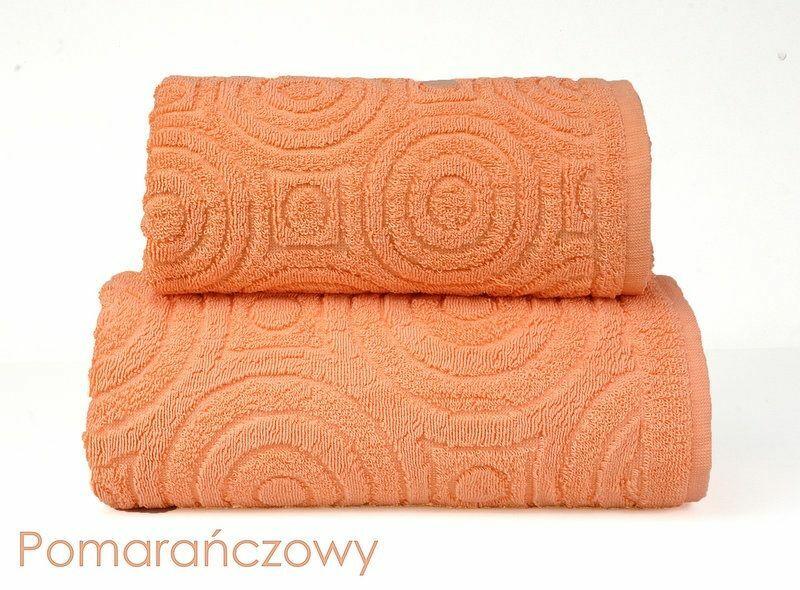 Ręcznik Emma 2 70x140 pomarańczowy 500g/m2 frotte Greno