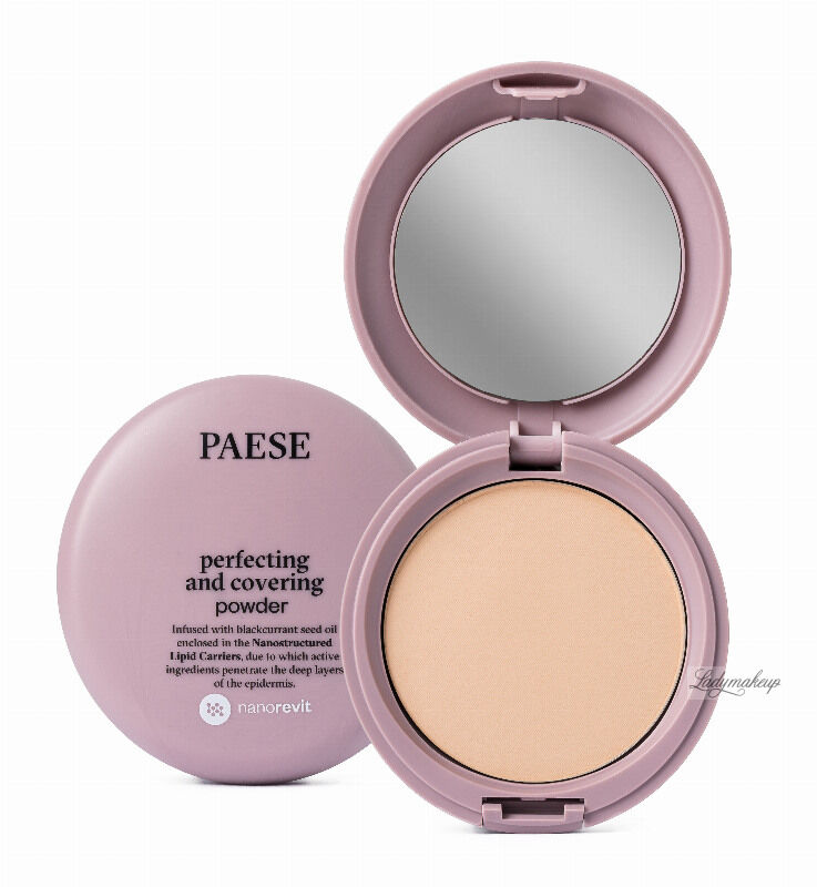 PAESE - Nanorevit - Perfecting and Covering Powder - Matujący puder do twarzy - 05 NATURAL
