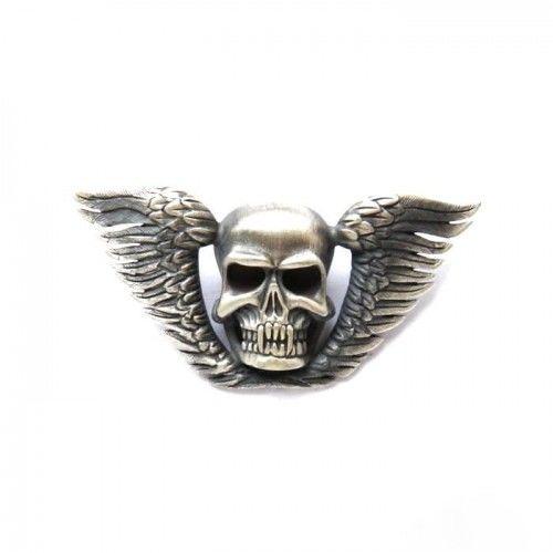 Wisiorek srebrny - Czaszka ze skrzydłami