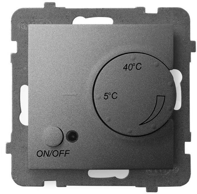 ARIA Regulator temperatury z czujnikiem napowietrznym szary mat RTP-1UN/m/70