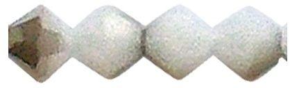 RAYHER 14253806 Swarovski koraliki szlifowane kryształy, średnica 4 mm, puszka 40 sztuk, topaz dymny