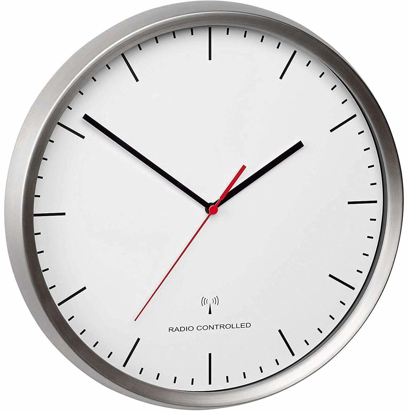 TFA Dostmann TFA analogowy zegar ścienny radiowy 60.3521.02, dł. 318 x szer. 60 x wys. 348 mm