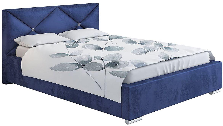 Tapicerowane łóżko jednoosobowe 120x200 Lenomi 3X - 48 kolorów