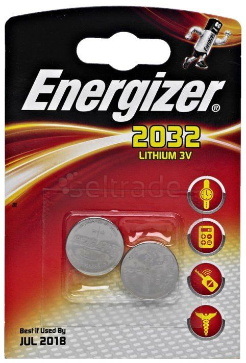 Baterie guzikowe / litowe mini Energizer CR2032 2 sztuki