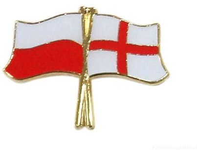 Flaga Polska - Anglia, przypinka