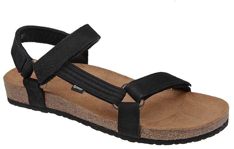 Sandały OTMĘT 405CP Czarne Jezuski NaturForm Fussbett