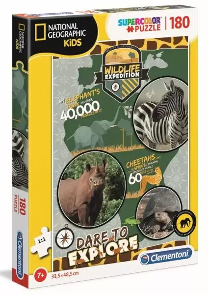 Puzzle 180 Supercolor National Geographic Kids - 29207