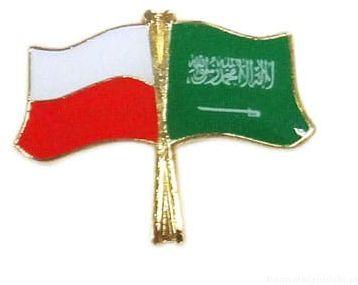 Flaga Polska - Arabia Saudyjska, przypinka