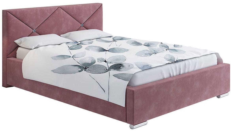Dwuosobowe łóżko z zagłówkiem 140x200 Lenomi 3X - 48 kolorów