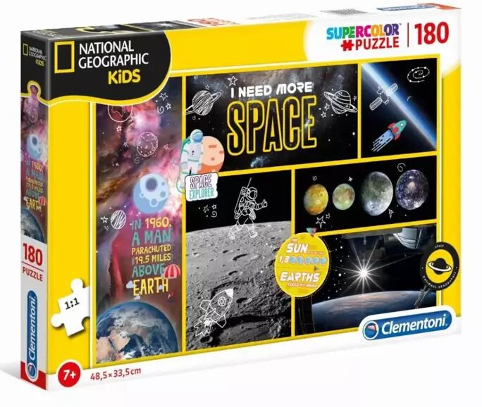 Puzzle 180 Supercolor National Geographic Kids - 29206