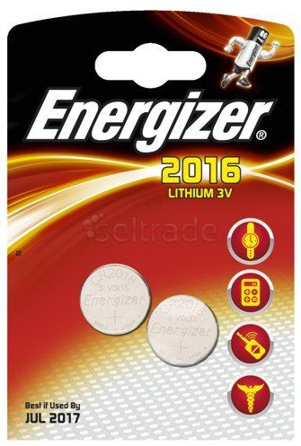 Bateria guzikowe / litowe mini Energizer CR2016 2 sztuki