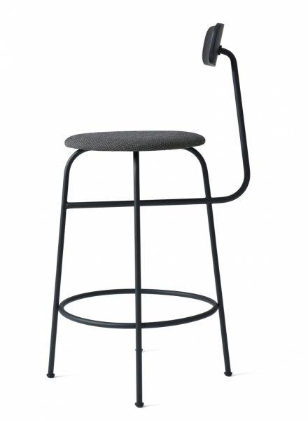 Menu AFTEROOM Stołek Krzesło Barowe 92 cm - Hoker Tapicerowany Czarny - Black Melange