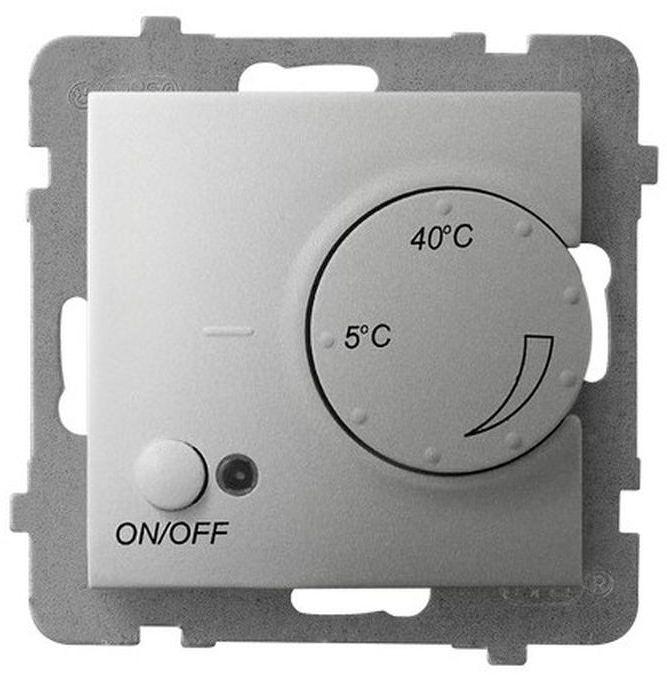 ARIA Regulator temperatury z czujnikiem napowietrznym srebro RTP-1UN/m/18