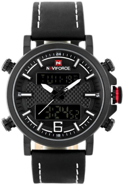 ZEGAREK MĘSKI NAVIFORCE - NF9135 (zn076a) - black/white + box