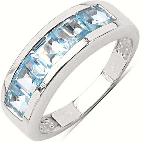 BONNIE, Srebrny pierścionek z blue topaz