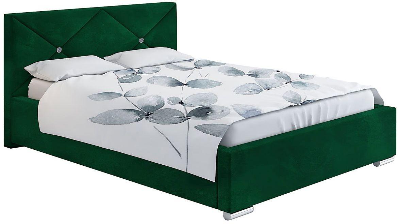 Pikowane łóżko z pojemnikiem 160x200 Lenomi 3X - 48 kolorów